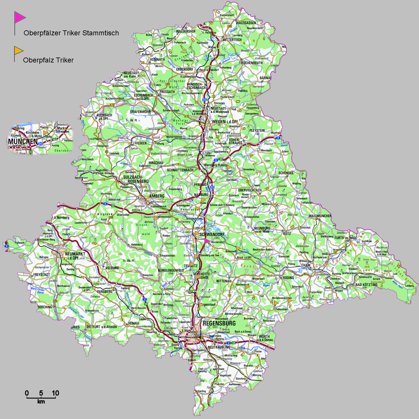 oberpfalz karte Oberpfalz Karte